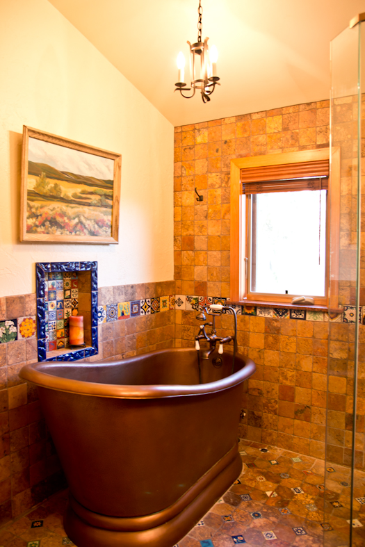 Mexican inspired bathroom pepe sherman assoc inc for Mexican themed bathroom ideas